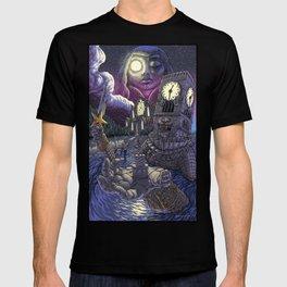 Ruined Clocktower Under Moonlight T-shirt