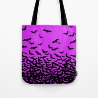bats Tote Bags featuring Bats by beach please