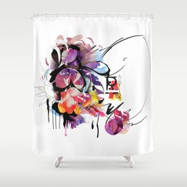 MagiColor Bloom Shower Curtain