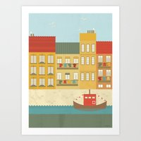 portugal Art Prints featuring Portugal by Kakel