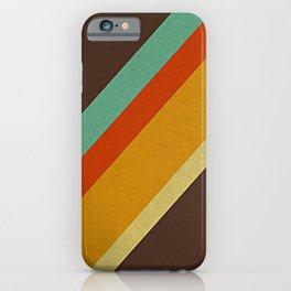 Retro 70s Color Palette iPhone Case