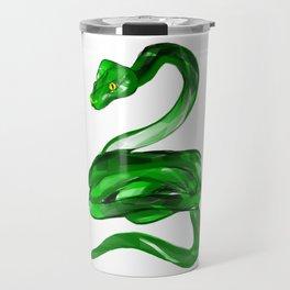 Green Tree Boa by Terra Leone Travel Mug