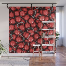 Kettlebells RED Wall Mural
