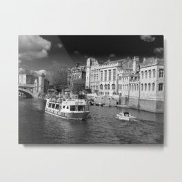 York Guildhall with river boat Metal Print