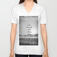 les miserables V-neck T-shirts featuring Les Miserables Quote Victor Hugo by KimberosePhotography