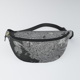 Black and White Lily Pond Fanny Pack