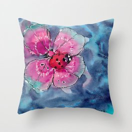 Lucky Ladybug Throw Pillow