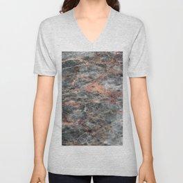 Grey Turkish Marble Unisex V-Neck