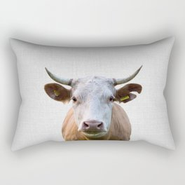 Cow - Colorful Rectangular Pillow