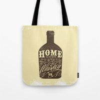 whiskey Tote Bags featuring Whiskey by irosebot