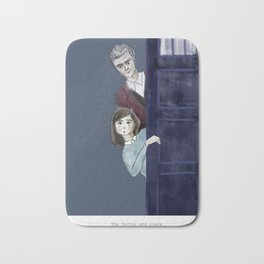The Doctor and Clara Bath Mat