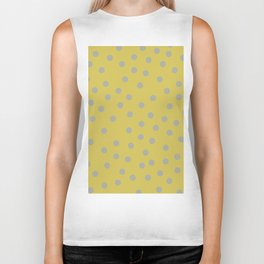 Simply Dots Retro Gray on Mod Yellow Biker Tank