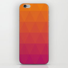 Pink and Yellow Ombre iPhone Skin
