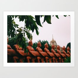 from under this tree Art Print