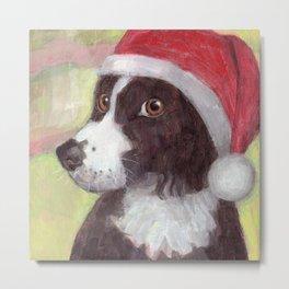Santa Dog Metal Print