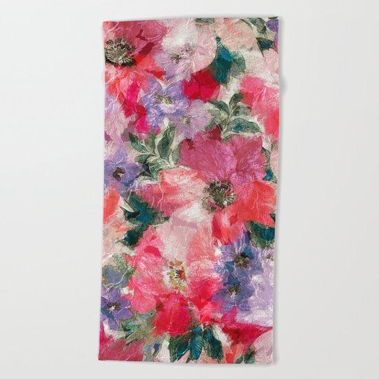 Slendid Flowers 2 Beach Towel