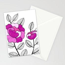 Rosette Mauve Stationery Cards