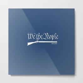 We the People - Flintlock on Blue Metal Print
