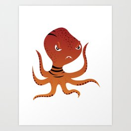 Tiger Squid Art Print