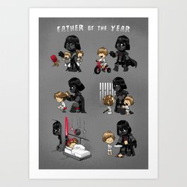 Father of the Year Art Print