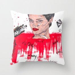 Bad Gal Throw Pillow