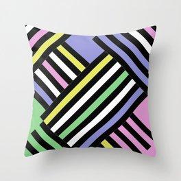 Criss Cross - Pop Art Style Geometric Criss Crossed Lines Throw Pillow