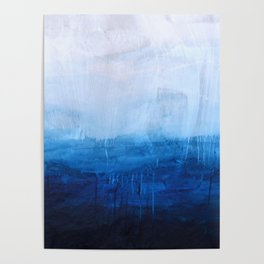 All good things are wild and free - Ocean Ombre Painting Poster