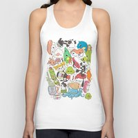 nori Tank Tops featuring Sushi Bar: Point of Nori-turn by ieIndigoEast