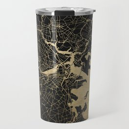 Boston Gold and Black Invert Travel Mug