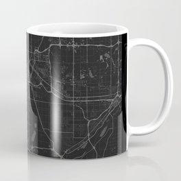 Minneapolis Map - Black and White (Dark) Coffee Mug