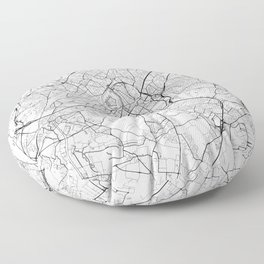 Lille Map White Floor Pillow