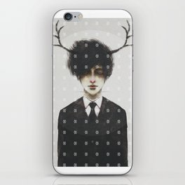 BLACK SUIT ANTLERS iPhone Skin