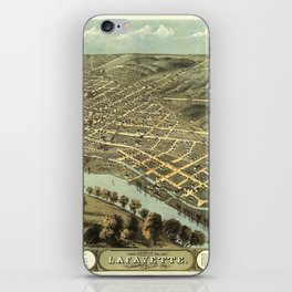 Bird's Eye View of Lafayette, Indiana (1868) iPhone Skin