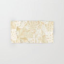 Tropical Shadows - Beige / White Hand & Bath Towel