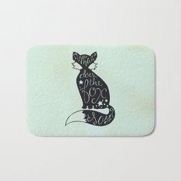 What Does The Fox Say? Bath Mat