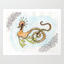 Dragon's Dalliance Art Print