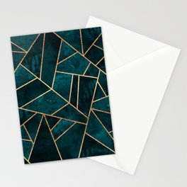 Deep Teal Stone Stationery Cards