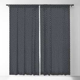 Black and white wavy lines Blackout Curtain