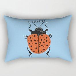 Little Ladybug Blue Rectangular Pillow