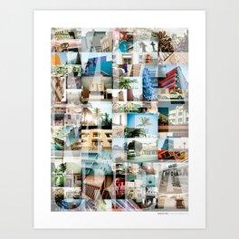 Miami, Florida Montage Art Print