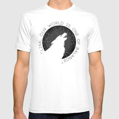 Twilight Wolf - Black White SMALL Mens Fitted Tee