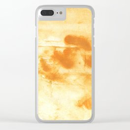 Blond abstract watercolor Clear iPhone Case