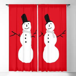 Christmas Snowman-Red Blackout Curtain