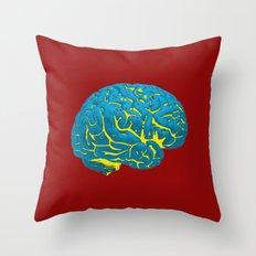 Brain of a Superhero - W0nder W0man Throw Pillow