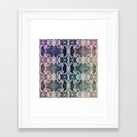 lace Framed Art Prints featuring Lace by Truly Juel