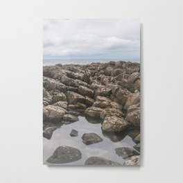 Giants Causeway Reflection Metal Print