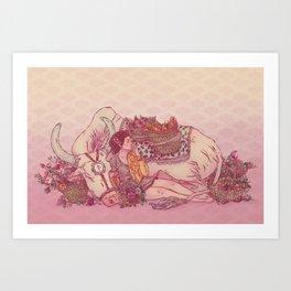 Signe du boeuf Art Print