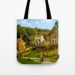 L Hermitage At Pontoise By Camille Pissarro | Reproduction | Impressionism Painter Tote Bag