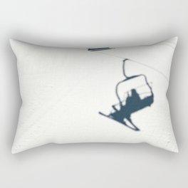 Chair lift shadow Rectangular Pillow