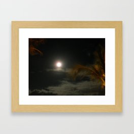 Blury Maui Moon Framed Art Print